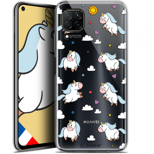 "Coque Gel Huawei P40 Lite (6.4"") Extra Fine Fantasia - Licorne In the Sky"