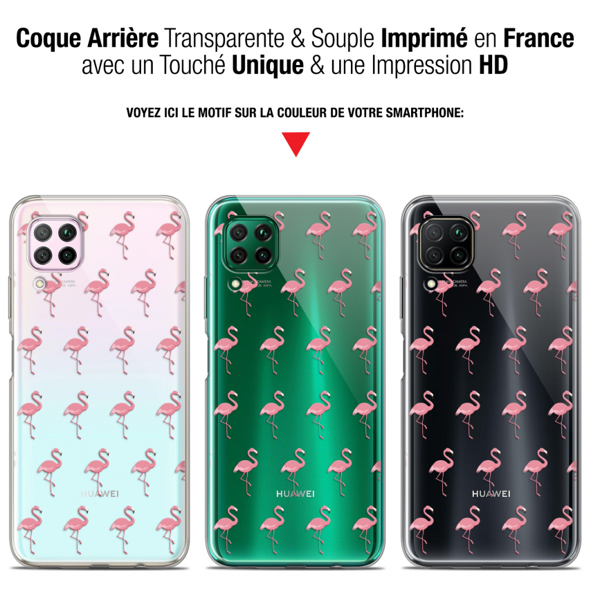 "Coque Gel Huawei P40 Lite (6.4"") Extra Fine Pattern - Les flamants Roses"