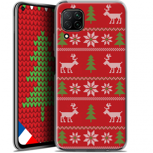 "Coque Gel Huawei P40 Lite (6.4"") Extra Fine Noël - Couture Rouge"