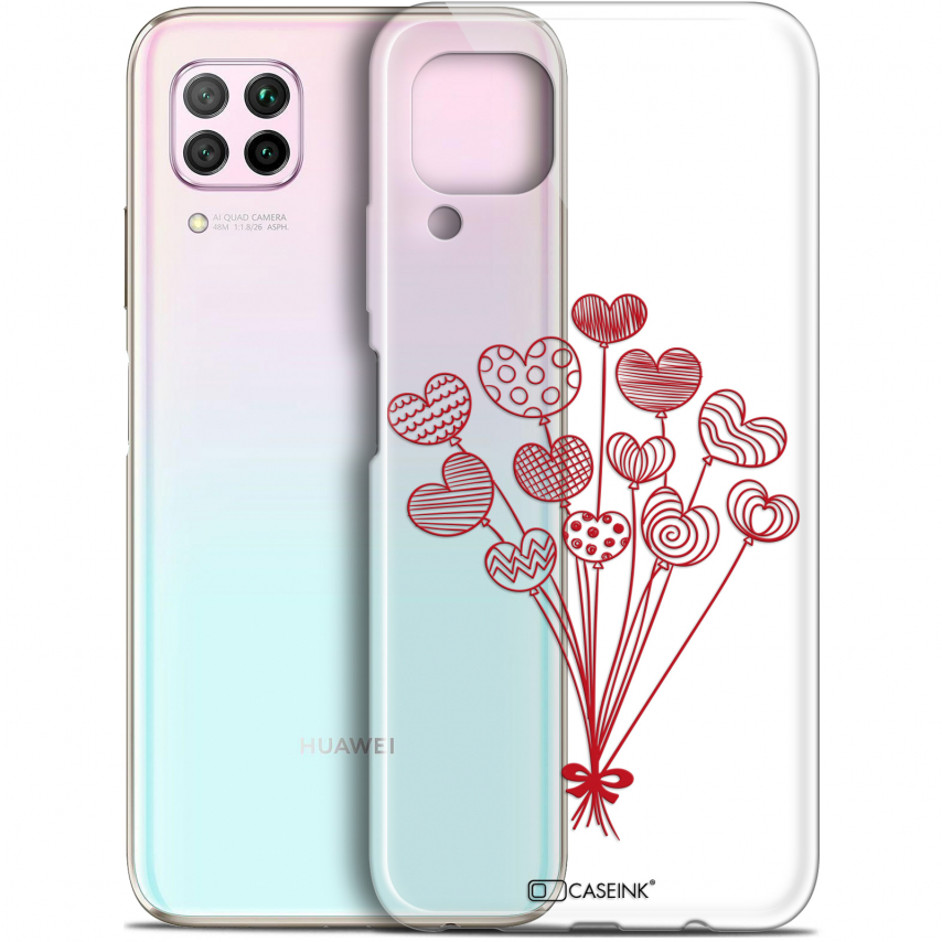 """Coque Gel Huawei P40 Lite (6.4"""") Extra Fine Love - Ballons d'amour"""