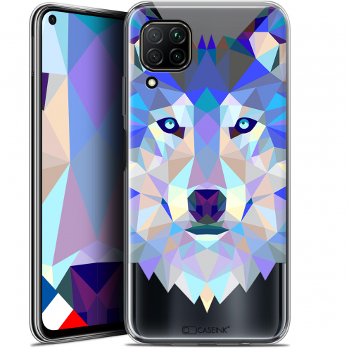 "Coque Gel Huawei P40 Lite (6.4"") Extra Fine Polygon Animals - Loup"