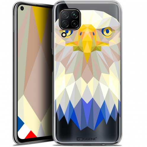 "Coque Gel Huawei P40 Lite (6.4"") Extra Fine Polygon Animals - Aigle"