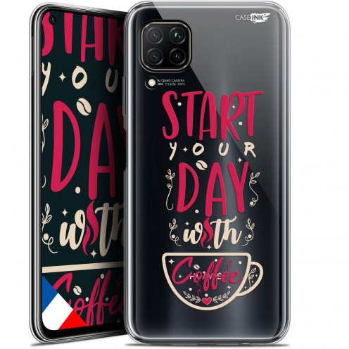 "Coque Gel Huawei P40 Lite (6.4"") Extra Fine Motif - Start With Coffee"