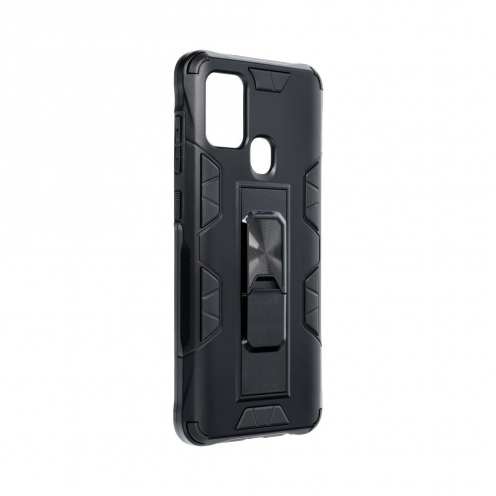 Coque Antichoc DEFENDER Magnet Stand pour Samsung A21S Noir