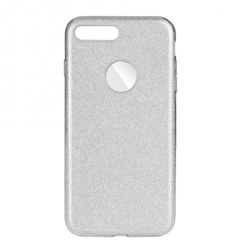 Coque Antichoc Shining Glitter pour iPhone 7 Plus / 8 Plus Argent