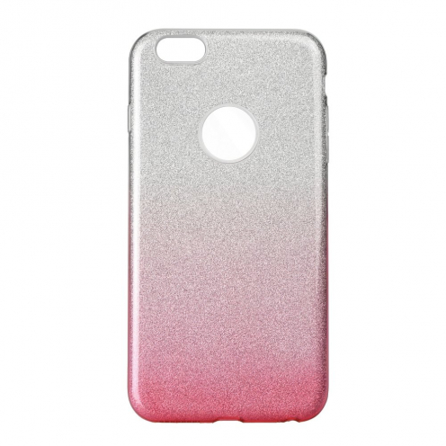 Coque Antichoc Shining Glitter pour iPhone 6/6S transparent/rose