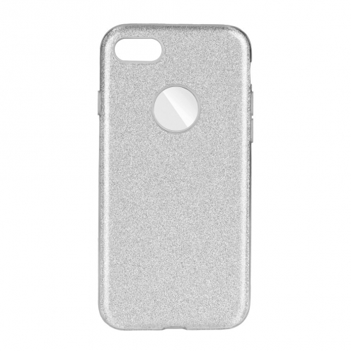 Coque Antichoc Shining Glitter pour iPhone 7 / 8 / SE 2020 Argent