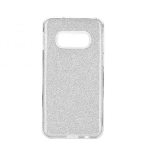 Coque Antichoc Shining Glitter pour Samsung Galaxy S10e Argent