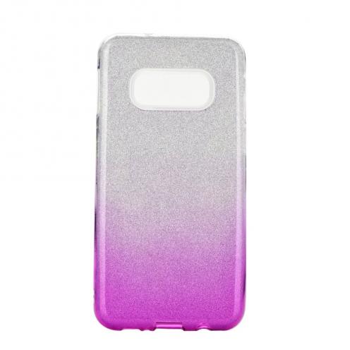 Coque Antichoc Shining Glitter pour Samsung Galaxy S10e transparent/rose