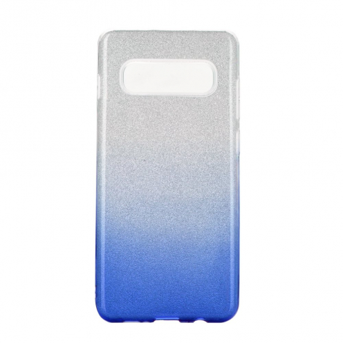 Coque Antichoc Shining Glitter pour Samsung Galaxy S10 transparent/bleu