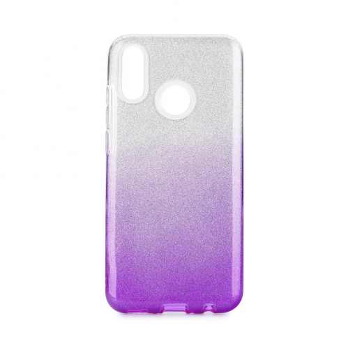 Coque Antichoc Shining Glitter pour Huawei P Smart 2019 Transparent/violet