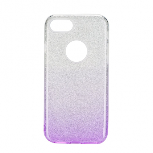 Coque Antichoc Shining Glitter pour iPhone 7 / 8 / SE 2020 transparent/violet