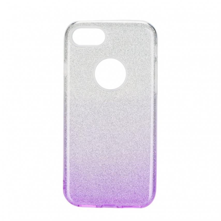 Coque Antichoc Shining Glitter pour iPhone 7 / 8 / SE 2020 transparent/violet