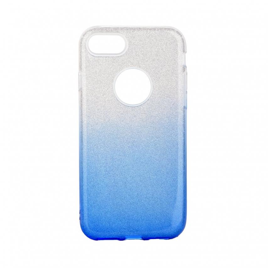 Coque Antichoc Shining Glitter pour iPhone 7 / 8 / SE 2020 transparent/bleu