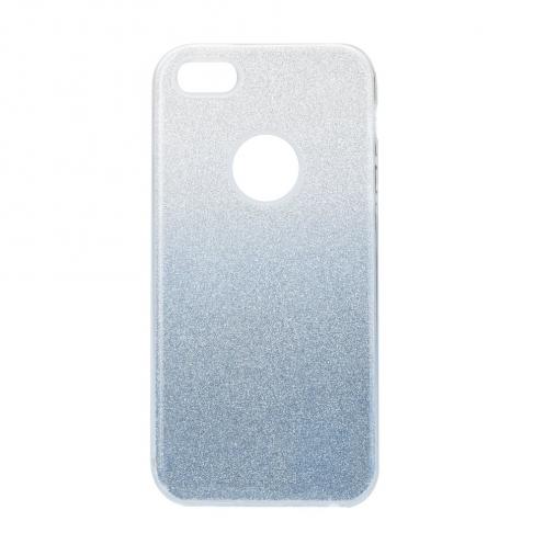 Coque Antichoc Shining Glitter pour iPhone 5/5S/SE transparent/bleu