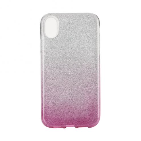 "Coque Antichoc Shining Glitter pour iPhone XR ( 6,1"" ) transparent/rose"