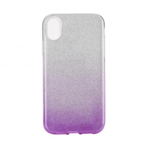"Coque Antichoc Shining Glitter pour iPhone XS Max ( 6,5"" ) transparent/violet"