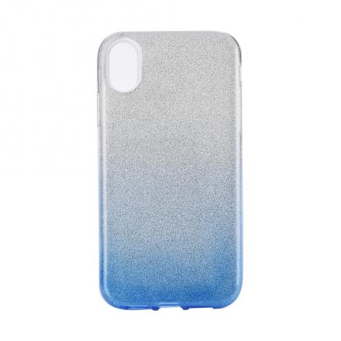 "Coque Antichoc Shining Glitter pour iPhone XS Max ( 6,5"" ) transparent/bleu"