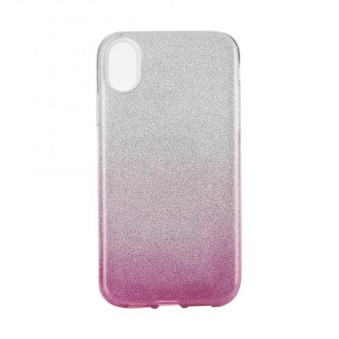 """Coque Antichoc Shining Glitter pour iPhone XS Max ( 6,5"""" ) transparent/rose"""