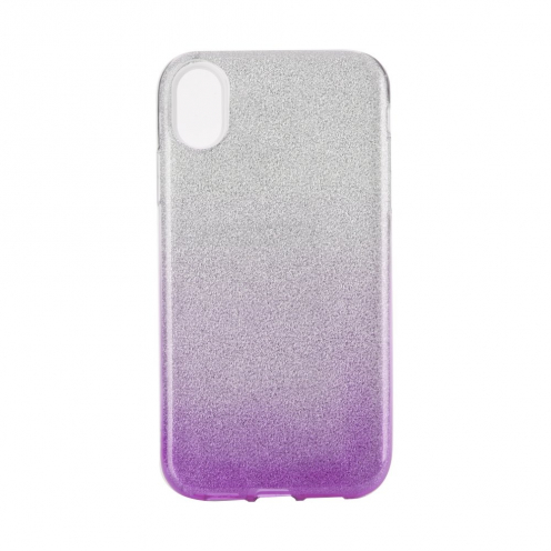 "Coque Antichoc Shining Glitter pour iPhone XR ( 6,1"" ) transparent/violet"