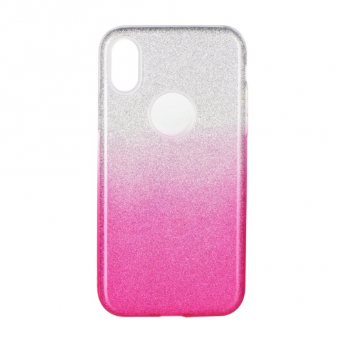 Coque Antichoc Shining Glitter pour Samsung Galaxy A21S transparent/rose