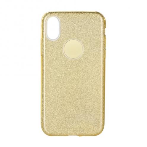 Coque Antichoc Shining Glitter pour Samsung Galaxy A21S Or