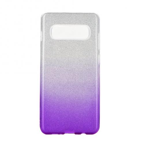 Coque Antichoc Shining Glitter pour Samsung Galaxy S20 Plus / S11 transparent/violet
