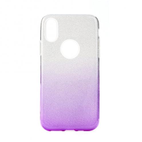 Coque Antichoc Shining Glitter pour Huawei Y6 2019 transparent/violet