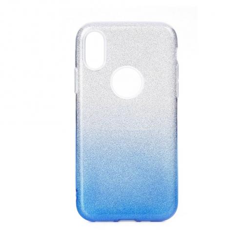 Coque Antichoc Shining Glitter pour Huawei Y6 2019 transparent/bleu