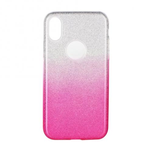 Coque Antichoc Shining Glitter pour Huawei Y6 2019 transparent/rose