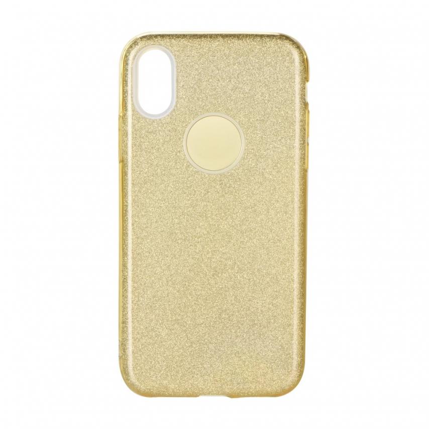 Coque Antichoc Shining Glitter pour Samsung Galaxy A10 Or