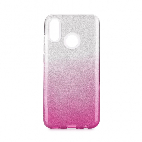 Coque Antichoc Shining Glitter pour Huawei P Smart 2020 transparent/rose