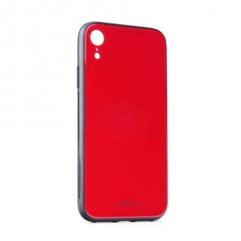 Coque GLASS dos verre trempé pour iPhone 12 PRO MAX Rouge