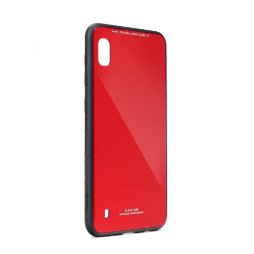 Coque GLASS dos verre trempé pour Samsung Galaxy A21S Rouge
