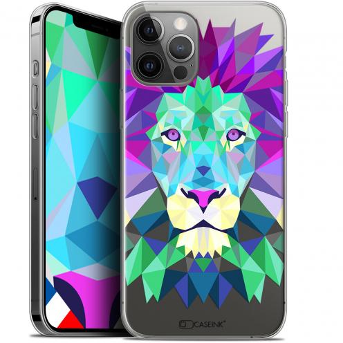 "Coque Gel iPhone 12 / 12 Pro (6.1"") Extra Fine Polygon Animals - Lion"