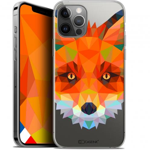"Coque Gel iPhone 12 / 12 Pro (6.1"") Extra Fine Polygon Animals - Renard"