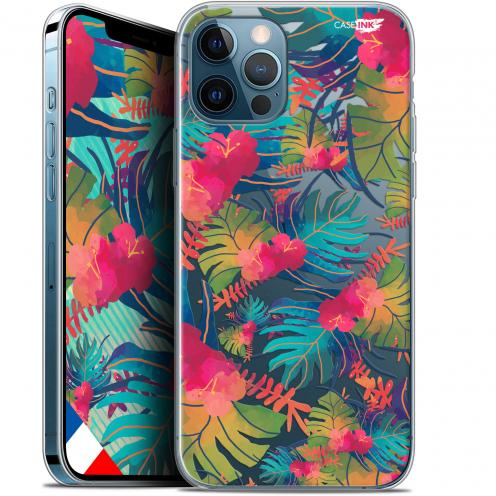 """Coque Gel iPhone 12 / 12 Pro (6.1"""") Extra Fine Motif - Couleurs des Tropiques"""
