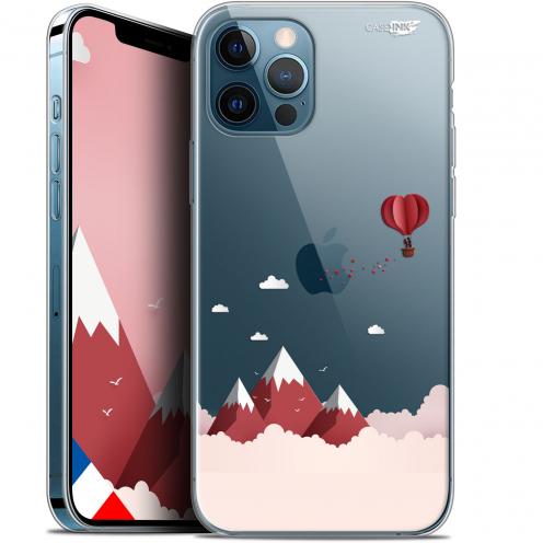 """Coque Gel iPhone 12 / 12 Pro (6.1"""") Extra Fine Motif - Montagne En Montgolfière"""