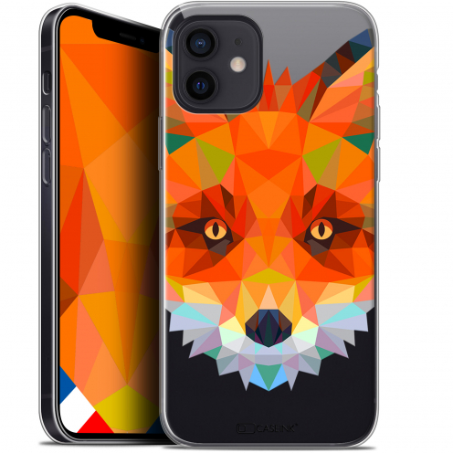 "Coque Gel iPhone 12 Mini (5.4"") Extra Fine Polygon Animals - Renard"