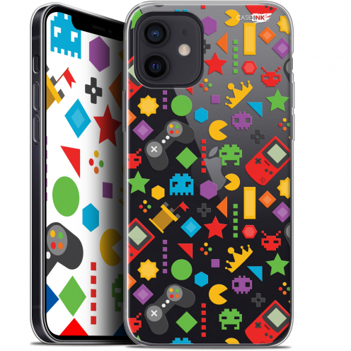 "Coque Gel iPhone 12 Mini (5.4"") Extra Fine Motif - PacMan"