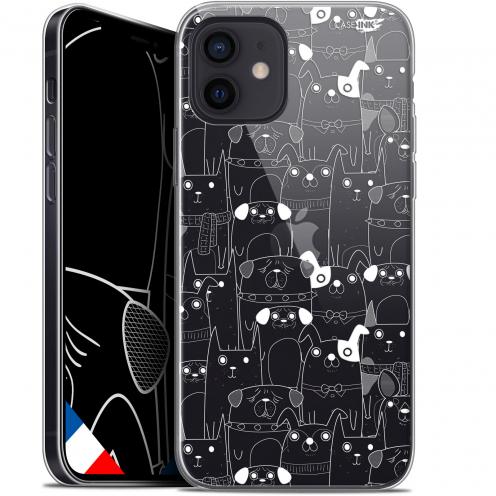 """Coque Gel iPhone 12 Mini (5.4"""") Extra Fine Motif - Chien Blanc"""