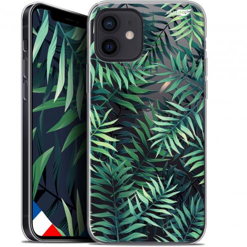 """Coque Gel iPhone 12 Mini (5.4"""") Extra Fine Motif - Feuilles des Tropiques"""