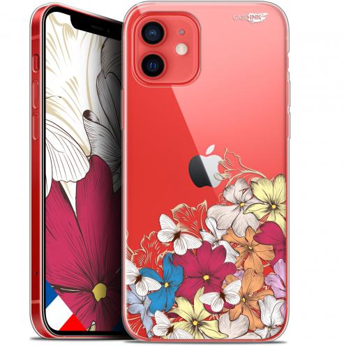 "Coque Gel iPhone 12 Mini (5.4"") Extra Fine Motif - Nuage Floral"