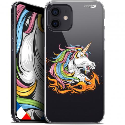 "Coque Gel iPhone 12 Mini (5.4"") Extra Fine Motif - Licorne de Feu"