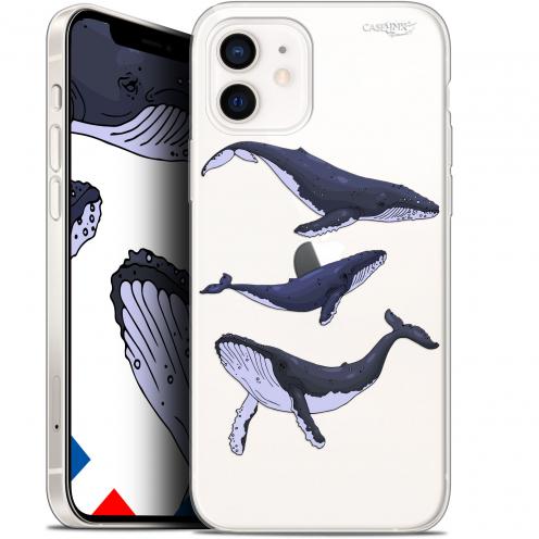 """Coque Gel iPhone 12 Mini (5.4"""") Extra Fine Motif - Les 3 Baleines"""