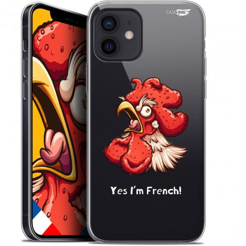 "Coque Gel iPhone 12 Mini (5.4"") Extra Fine Motif - I'm French Coq"