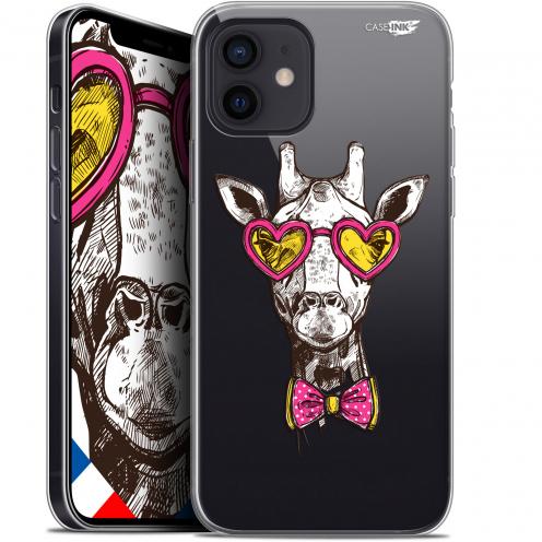 "Coque Gel iPhone 12 Mini (5.4"") Extra Fine Motif - Hipster Giraffe"