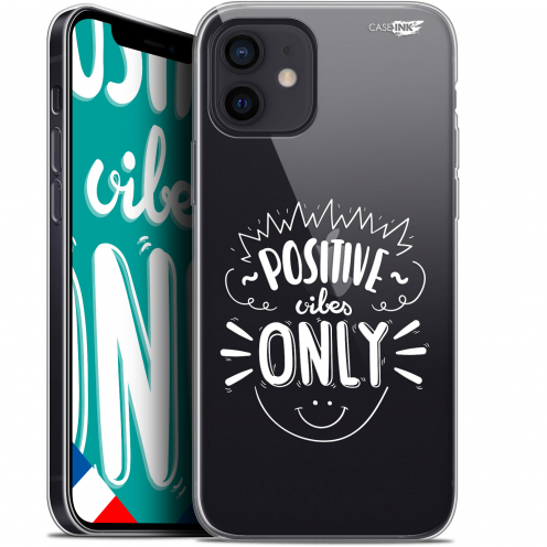 """Coque Gel iPhone 12 Mini (5.4"""") Extra Fine Motif - Positive Vibes Only"""