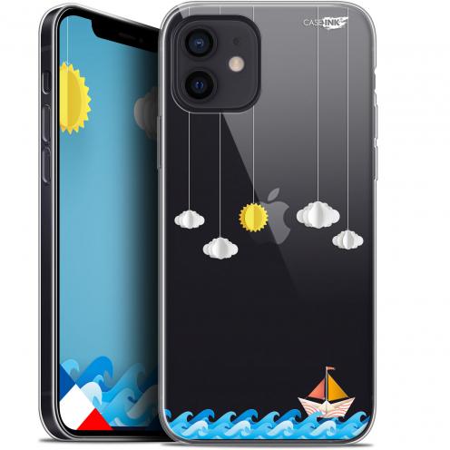 "Coque Gel iPhone 12 Mini (5.4"") Extra Fine Motif - Petit Bateau en Mer"