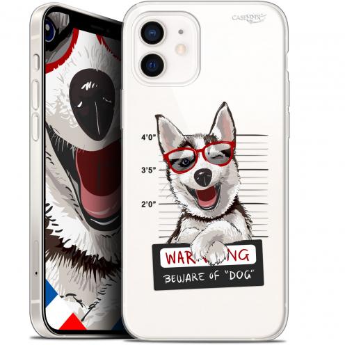 "Coque Gel iPhone 12 Mini (5.4"") Extra Fine Motif - Beware The Husky Dog"
